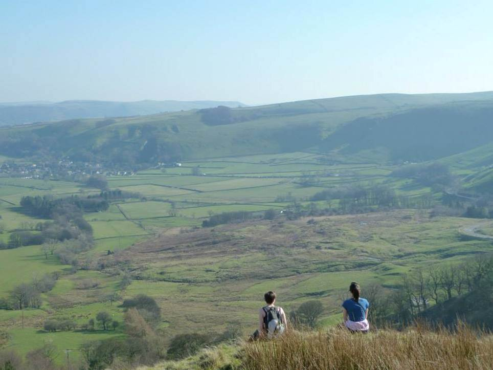 The view from Mam Tor in the Peak District